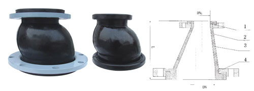 Eccentric reducer rubber joints